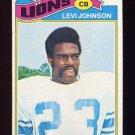 1977 Topps Football #043 Levi Johnson - Detroit Lions