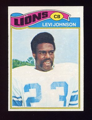 1977 Topps Football #043 Levi Johnson - Detroit Lions