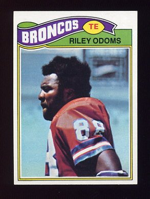 1977 Topps Football #035 Riley Odoms - Denver Broncos