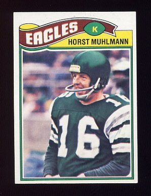 1977 Topps Football #023 Horst Muhlmann - Philadelphia Eagles