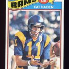 1977 Topps Football #018 Pat Haden RC - Los Angeles Rams