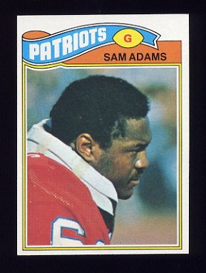 1977 Topps Football #014 Sam Adams - New England Patriots