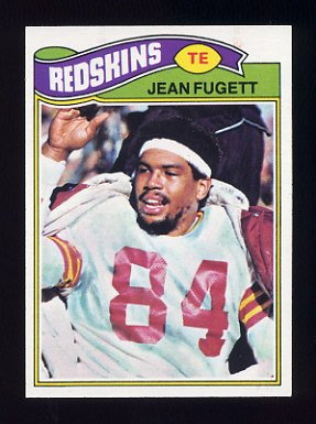 1977 Topps Football #012 Jean Fugett - Washington Redskins