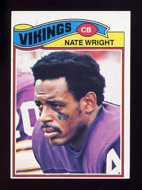 1977 Topps Football #011 Nate Wright - Minnesota Vikings