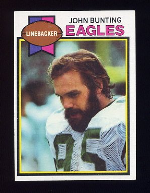 1979 Topps Football #521 John Bunting - Philadelphia Eagles