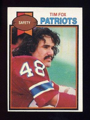 1979 Topps Football #516 Tim Fox - New England Patriots