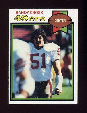 1979 Topps Football #513 Randy Cross - San Francisco 49ers ExMt