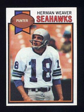 1979 Topps Football #504 Herman Weaver - Seattle Seahawks