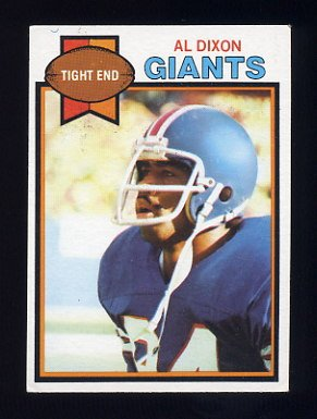 1979 Topps Football #472 Al Dixon - New York Giants