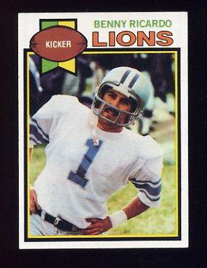 1979 Topps Football #467 Benny Ricardo - Detroit Lions