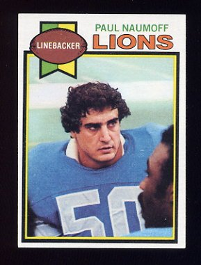 1979 Topps Football #447 Paul Naumoff - Detroit Lions