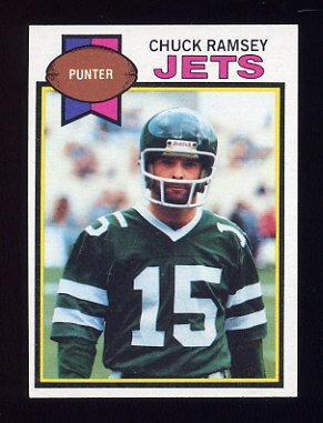 1979 Topps Football #402 Chuck Ramsey - New York Jets