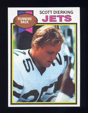 1979 Topps Football #362 Scott Dierking - New York Jets