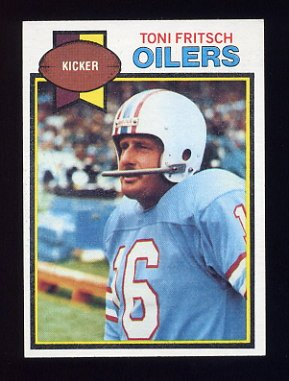 1979 Topps Football #348 Toni Fritsch - Houston Oilers