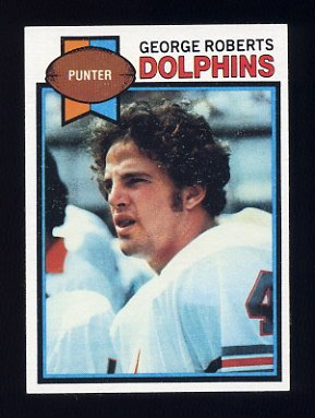 1979 Topps Football #322 George Roberts - Miami Dolphins