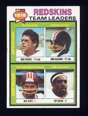 1979 Topps Football #319 Washington Redskins TL / John Riggins