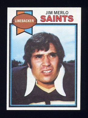 1979 Topps Football #314 Jim Merlo - New Orleans Saints