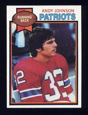 1979 Topps Football #281 Andy Johnson - New England Patriots