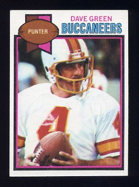 1979 Topps Football #279 Dave Green - Tampa Bay Buccaneers