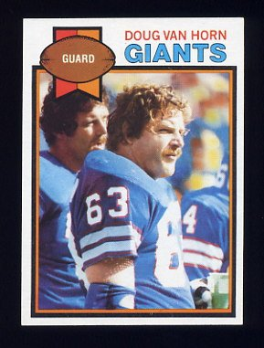 1979 Topps Football #269 Doug Van Horn - New York Giants