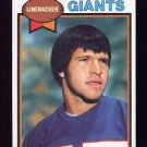 1979 Topps Football #248 Brian Kelley - New York Giants