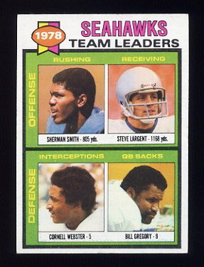 1979 Topps Football #244 Seattle Seahawks TL / Steve Largent VgEx
