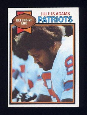 1979 Topps Football #242 Julius Adams - New England Patriots