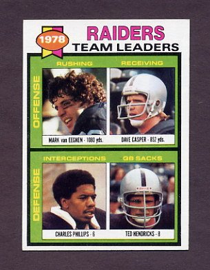 1979 Topps Football #169 Oakland Raiders TL / Ted Hendricks