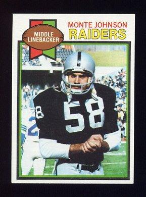 1979 Topps Football #149 Monte Johnson - Oakland Raiders
