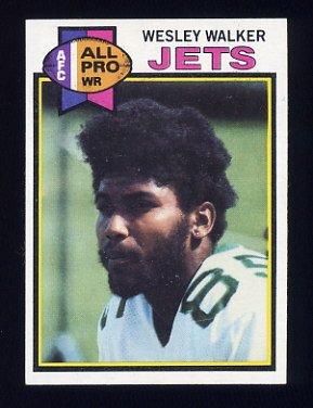 1979 Topps Football #141 Wesley Walker - New York Jets