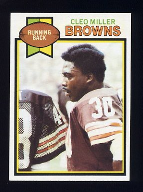 1979 Topps Football #134 Cleo Miller - Cleveland Browns