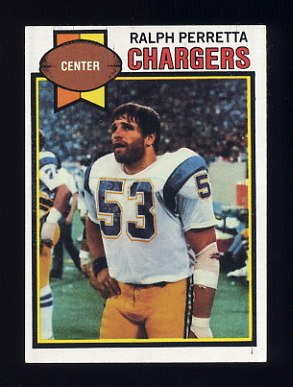 1979 Topps Football #088 Ralph Perretta - San Diego Chargers