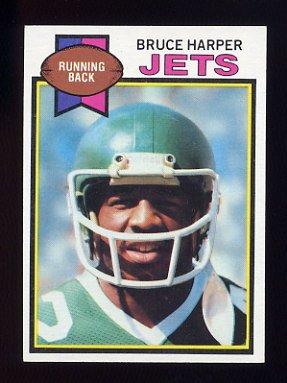 1979 Topps Football #082 Bruce Harper - New York Jets