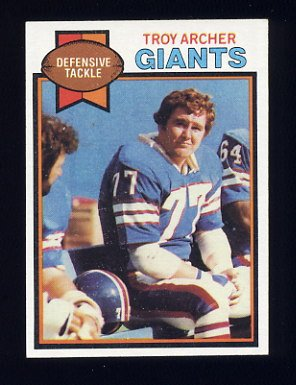 1979 Topps Football #081 Troy Archer - New York Giants