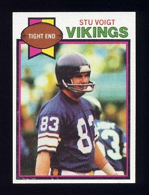 1979 Topps Football #079 Stu Voigt - Minnesota Vikings