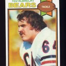 1979 Topps Football #072 Ted Albrecht - Chicago Bears