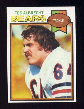 1979 Topps Football #072 Ted Albrecht - Chicago Bears