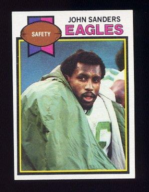 1979 Topps Football #054 John Sanders - Philadelphia Eagles