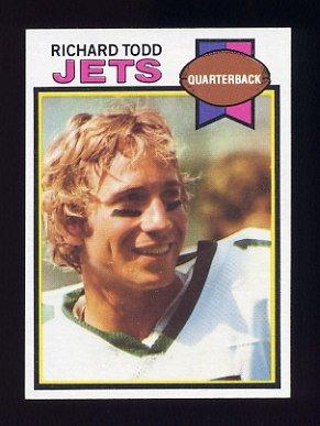 1979 Topps Football #041 Richard Todd - New York Jets