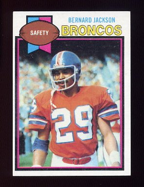 1979 Topps Football #012 Bernard Jackson - Denver Broncos