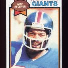 1979 Topps Football #007 Johnny Perkins - New York Giants