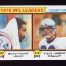 1979 Topps Football #002 Receiving Leaders /  Rickey Young / Steve Largent