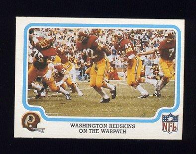 1979 Fleer Team Action Football #55 Washington Redskins