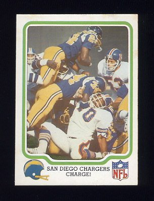 1979 Fleer Team Action Football #47 San Diego Chargers