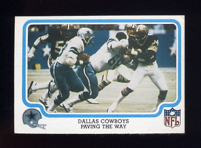 1979 Fleer Team Action Football #14 Dallas Cowboys / Tony Dorsett