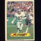 1983 Topps Sticker Inserts Football #16 Ted Hendricks - Oakland Raiders