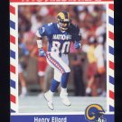 1990 Fleer Stars and Stripes Football #71 Henry Ellard - Los Angeles Rams