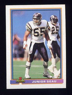 1991 Bowman Football #455 Junior Seau - San Diego Chargers