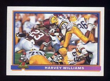 1991 Bowman Football #234 Harvey Williams RC - Kansas City Chiefs