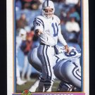 1991 Bowman Football #212 Jeff George - Indianapolis Colts